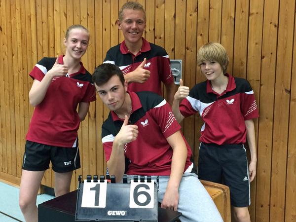 1. Jungenmannschaft der Kaltenkirchener Turnerschaft nach dem Sieg gegen den SSC Hagen Ahrensburg