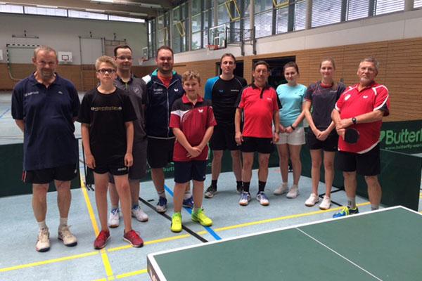 Teilnehmer der Tischtennisschule Kaltenkirchen am 8. Juli 2017