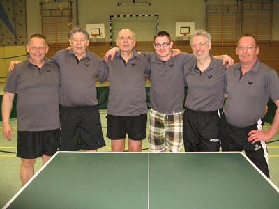 Die siegreichen Tischtennis-Herren der 5. Mannschaft