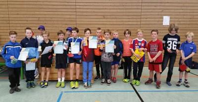 Bezirksentscheid mini-Meisterschaften 2015 Jungen 10 Jahre