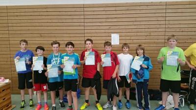 Bezirksentscheid mini-Meisterschaften 2015 Mädchen 12 Jahre
