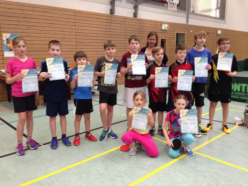 Teilnehmer des Ortsentscheids der mini-Meisterschaften 2015 in Kaltenkirchen